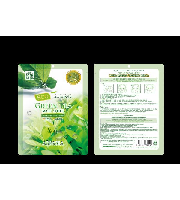 Aspasia Good Face Eco Mask Sheet-Green Tea