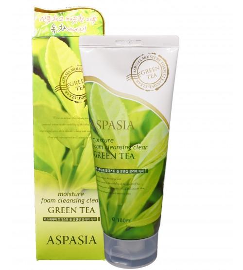 Aspasia Green Tea Moisture Foam Cleanser-180ml