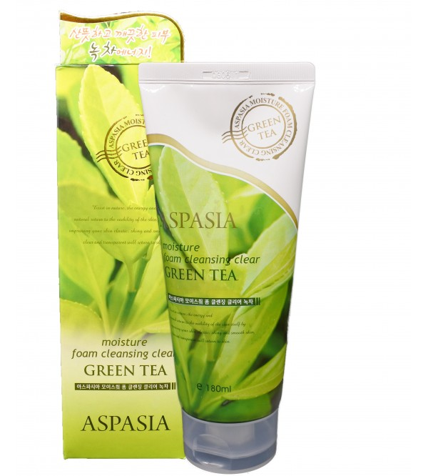 Aspasia Green Tea Moisture Foam Cleanser-180ml