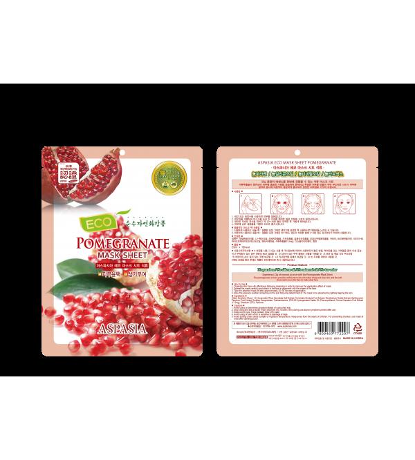 Aspasia Good Face Eco Mask Sheet-Pomegranate
